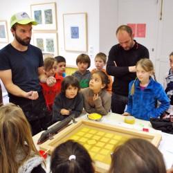 Les Concasseurs au Musée de Morlaix - atelier Sérigraphie